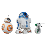 STAR WARS GALAXY OF ADVENTURES 5-INCH R2-D2, BB-8, & D-O DROID 3-PACK (HASBRO/Ages 4 years & up/Approx. Retail Price: Starting at $14.99/Available: Fall 2019) Imagine BB-8 helping his droid friends escape the clutches of the villainous First Order with fun spinning action! This 5-inch scale figure 3-pack features iconic STAR WARS droid characters R2-D2, BB-8, and D-O from STAR WARS: THE RISE OF SKYWALKER. Both of the R2-D2 and D-O figures feature smooth rolling play, so boys and girls can imagine racing into the galactic action to save the day. Includes 3 figures. Available at most major retailers.