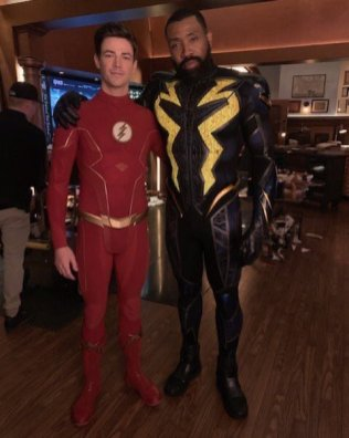 Grant Gustin and Cress Williams confirming Black Lightning will appear in the Crisis