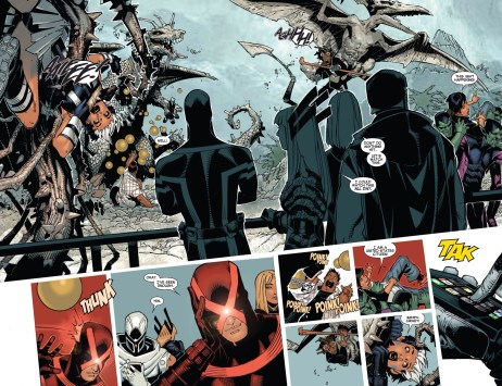 New danger room! And Magneto using an iPhone! He's obviously a very forward thinking 80+ year old.