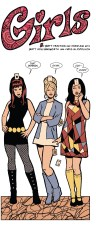 Loving the 60s/Mad Men inspired look of Hawkeye's lady friends.