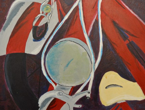 Abstract Bicycle Paintings. #nerdy Art Teacher