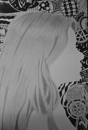 zentangle hair silhouettes