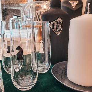 chess party glasses
