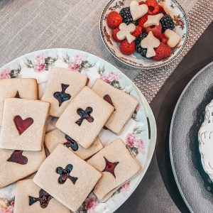 Linzer Playing Card Cookies