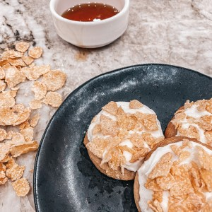Frosted Flakes Maple Cookies