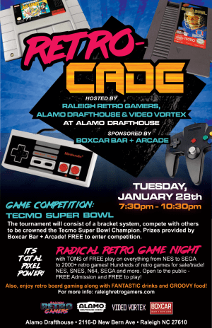 raleigh retro gamers retrocade