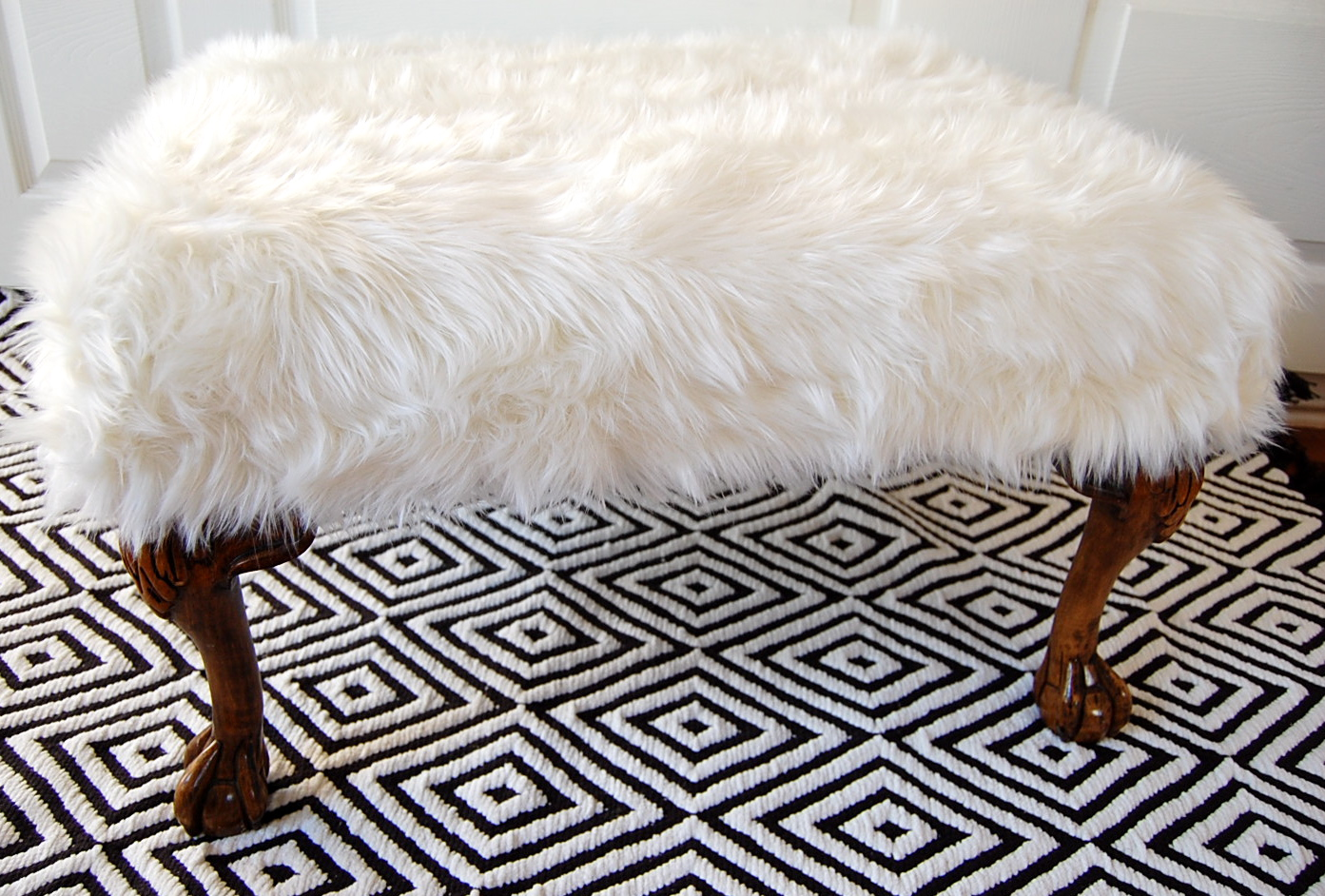 fuzzy sofa slipcover platform day 1 of week beautiful white inspiration
