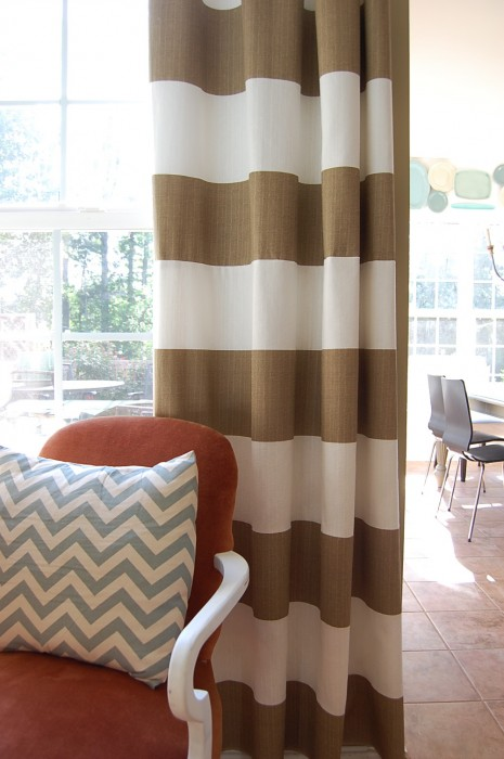 The Scoop On My Striped Drapes AKA Curtains