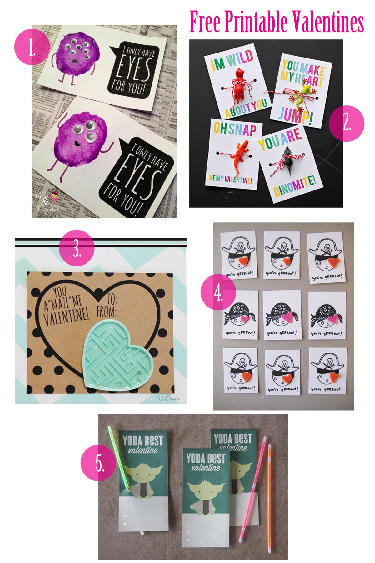 Free Children S Valentine S Day Printables