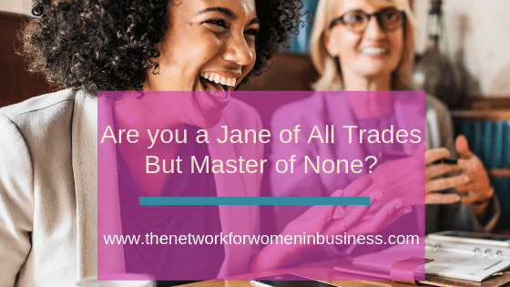 Are You A Jane of All Trades But Master of None?