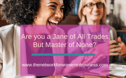 Are you a jane of all trades and Master of None