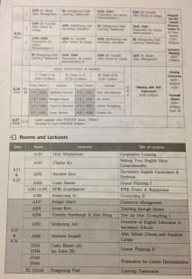 EPIK Orientation Schedule