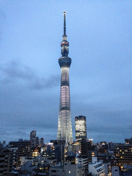 The view from my front door - Tokyo Skytree!