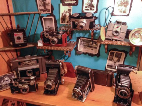 Some Awesome Cameras at one of the shops in South Congress, Austin Texas