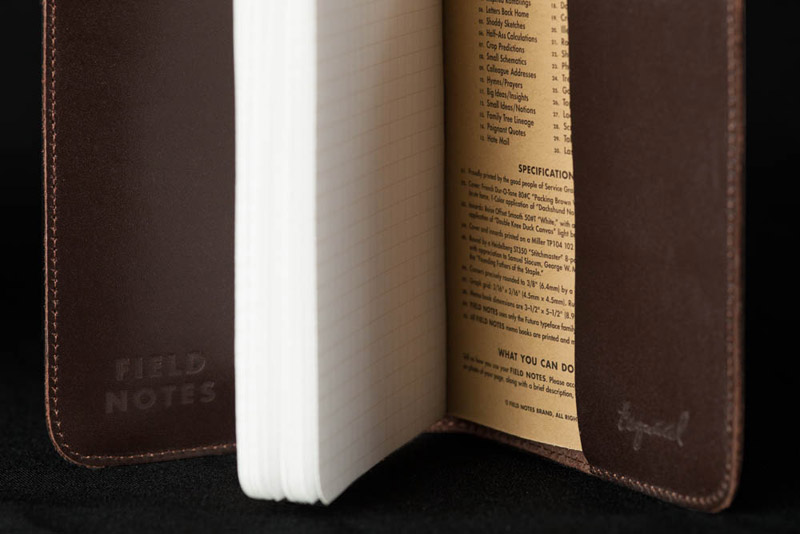 5 leather field notes
