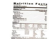 nutrition facts label .