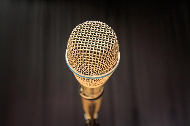 Microphone Photo by Santtu Perkiö on Unsplash