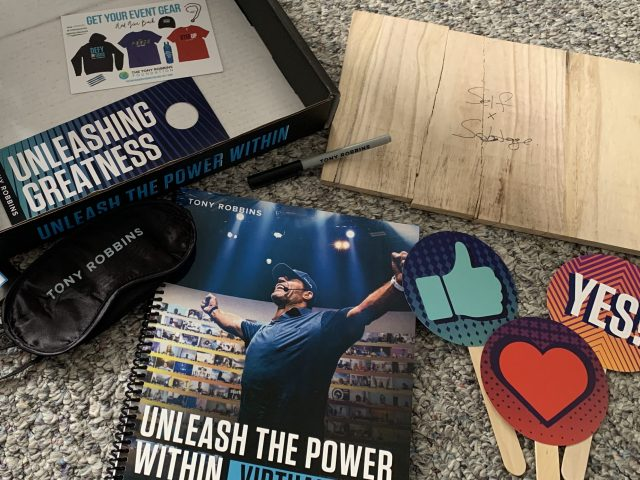 Unleash the Power Within tool box. Included with your ticket!