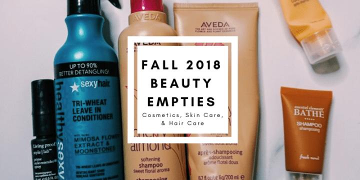 Fall 2018 Beauty Empties