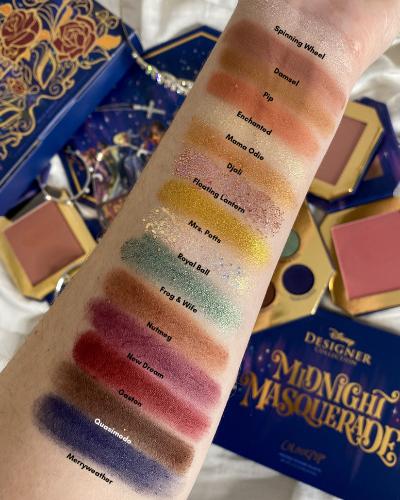 ColourPop x Disney Designer Collection Midnight Masquerade Palette Review | ColourPop x Disney Designer Midnight Masquerade Palette Swatches