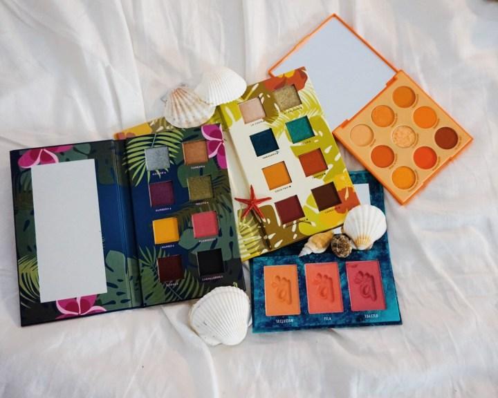 Yearlong Beauty Low Buy - Alamar Cosmetics Reina Del Caribe Vol. 1 & 2 Palettes and Colorete Blush Trio; ColourPop Orange You Glad? Palette
