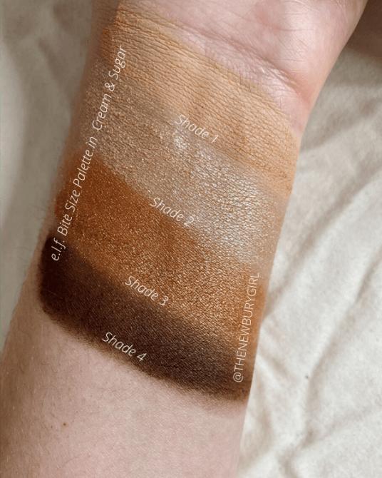 e.l.f. Bite Size Palette Review | e.l.f. Bite Size Palette in Cream & Sugar Swatches