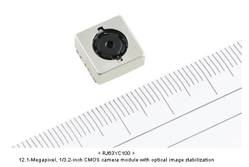 Sharp ultra thin 12.1MP CMOS camera with Optical IS for