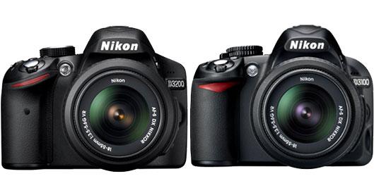 Nikon D3200 vs Nikon D3100