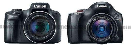 Canon SX50 hs vs 40 HS front