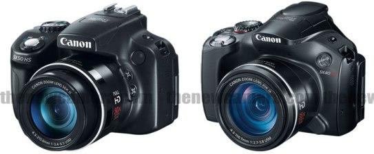 Canon SX50 HS vs Canon SX40 HS Side