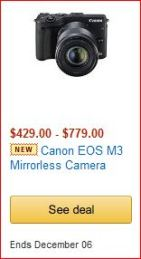 Canon EOS M3 camera image