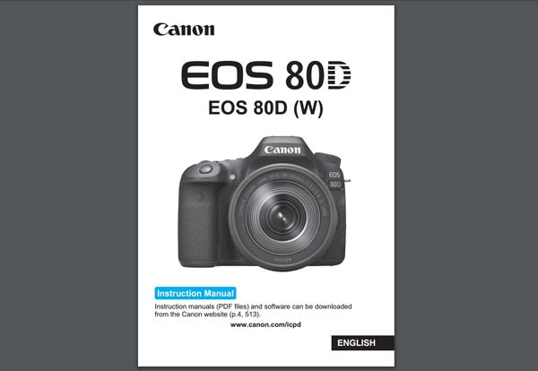 Canon 80D User Manual Download « NEW CAMERA