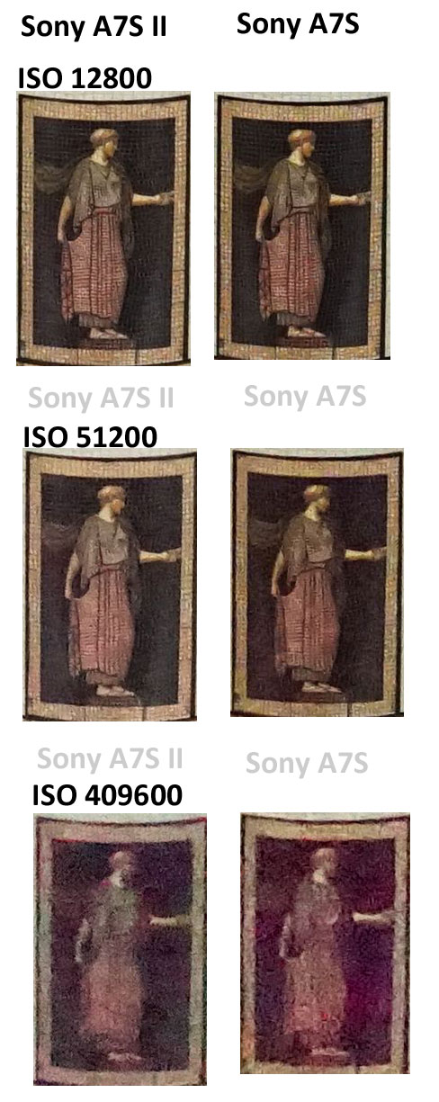 Sony A7S II vs Sony A7S image comparison High ISO test