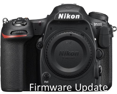 Nikon D500 firmware update