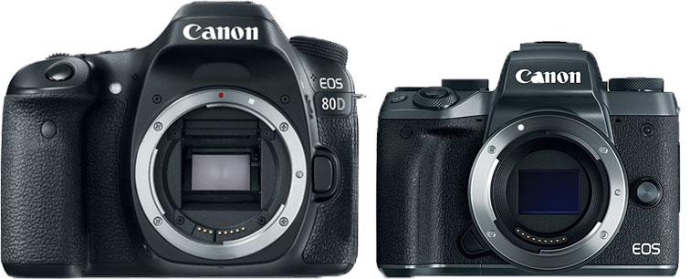 Canon 80D - vs Canon EOS M50