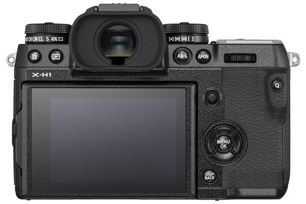 Fuji X-H1 camera back image