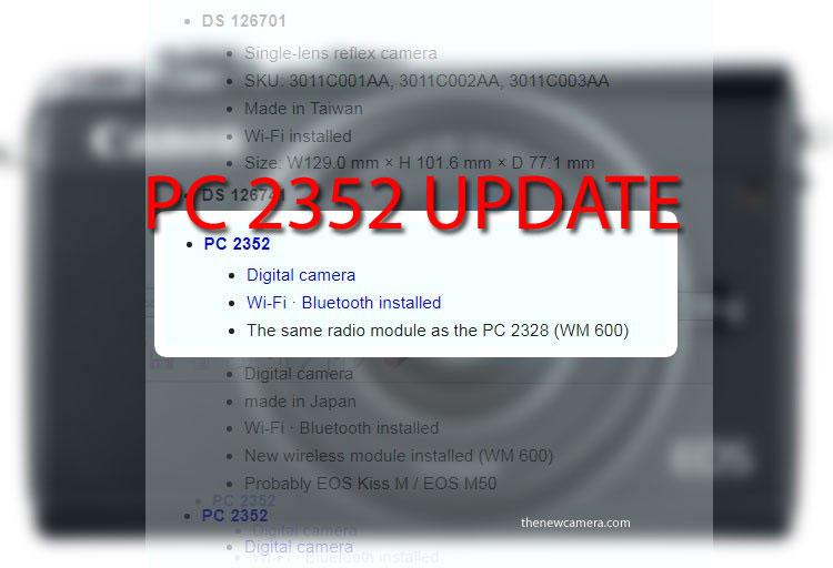 PC2352 camera update
