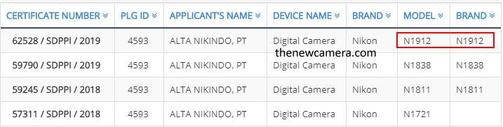 Nikon N1912 Camera Registered « NEW CAMERA