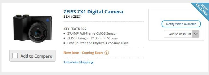 Zeiss ZX1 Again Surfaced at Bluetooth Certification Agency