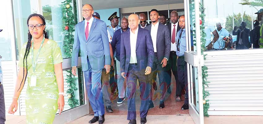 CHAN 2020 : CAF President In Cameroon