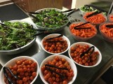 Salad bar ingredients, prepped and ready.