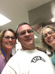 Kitchen helpers love selfies.