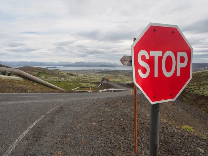 Road Stop Sign Pipe Landscape