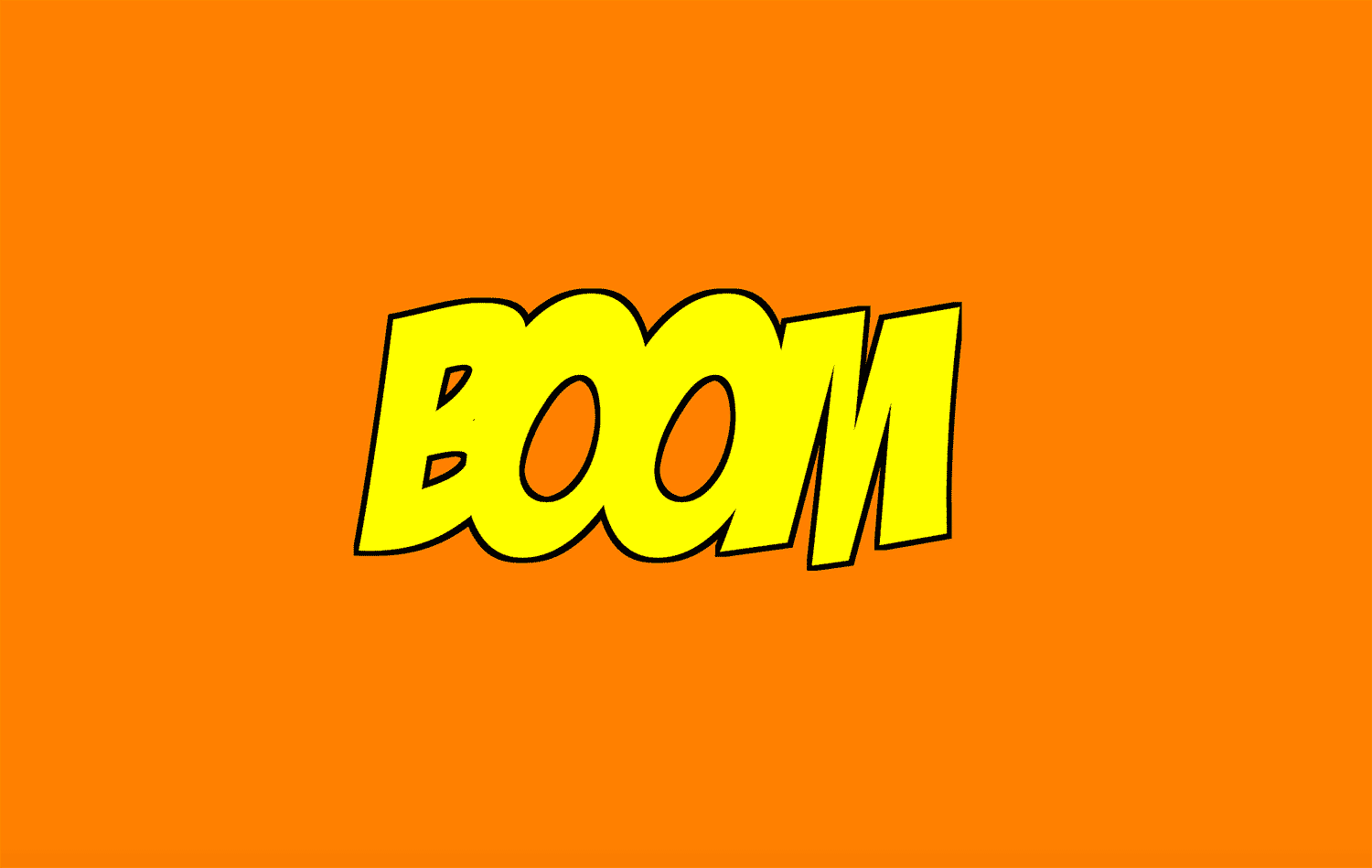 the new code  Boom Wham Pow Comic Book FX Lettering with SVG Filters