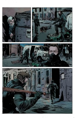 Artwork from THE BLACK HOOD #8 by Robert Hack and Kelly Fitzpatrick