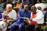 President Akufo-Addo with the Vice President after the former delivers his remarks