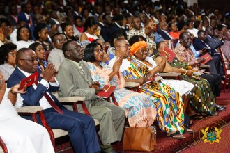 Section of the gathering at the event