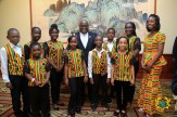 President Akufo-Addo with some Ghanaian children resident in China