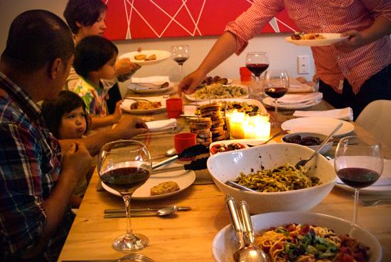 kitchen aid pasta attachment costco countertops homemade dinner party - the new domestic