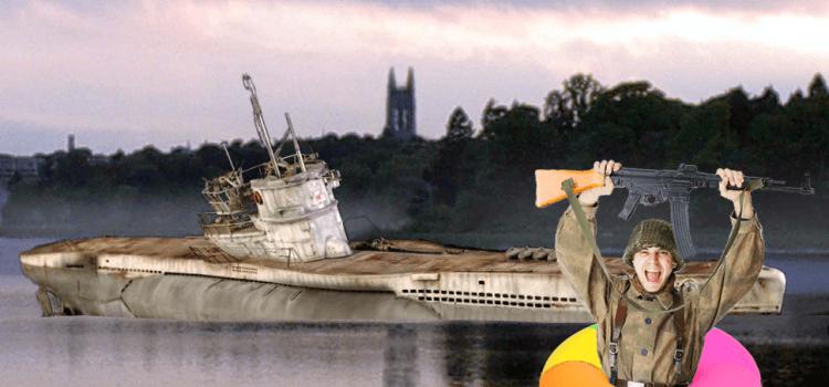 Naval ROTC Subdues Reservoir U-Boat Invasion